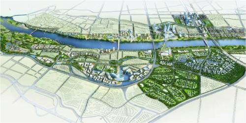 都江堰市滨江新区城市设计概念方案竞赛三等奖图片