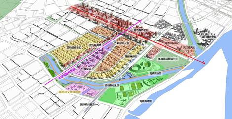 """cbd abp模式——""""浦口新城体育,商务区域城市设计""""荣获国际竞赛一等奖图片"""